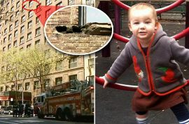 Greta Greene, two year old baby dies after struck by brick from 8th floor window