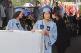 Witch hunt? Emma Sulkowicz, Columbia student carries mattress to graduation cause her rapist was there