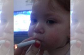 Spanish woman posts picture of baby smoking cigarette: 'You're my fucxing life'