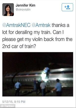 Amtrak's Jennifer Kim violin