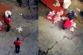 South African KFC apologizes after caught hosing chicken meat on concrete floor