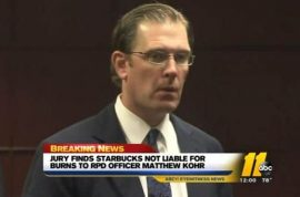 Lt Matt Kohr: Jury rules that Starbucks is not at fault. Right decision?