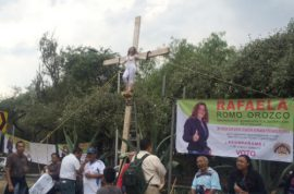 Mexican election candidate crucifies self on cross after banned from local elections
