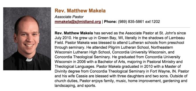 Pastor Matthew Makela