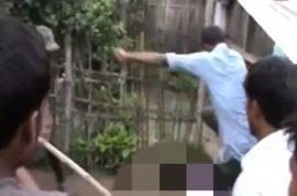 Video: Lynch mob beats Nanu Mirdha to death after he sacrificed 5 year old boy to Hindu god