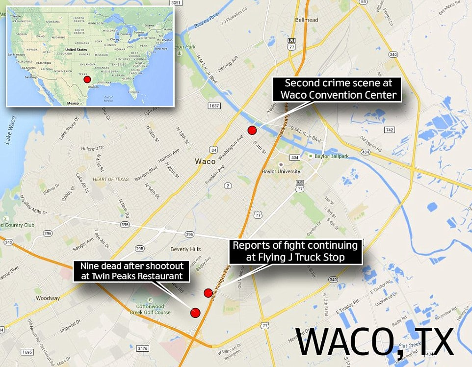 Waco Texas Biker gang shooting