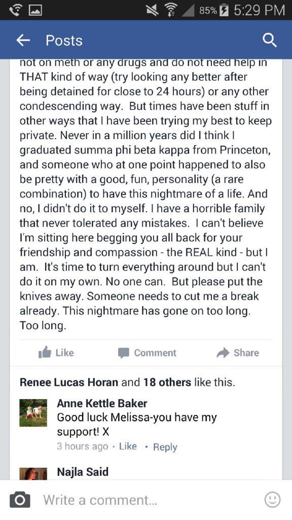 Melissa Berkelhammer facebook