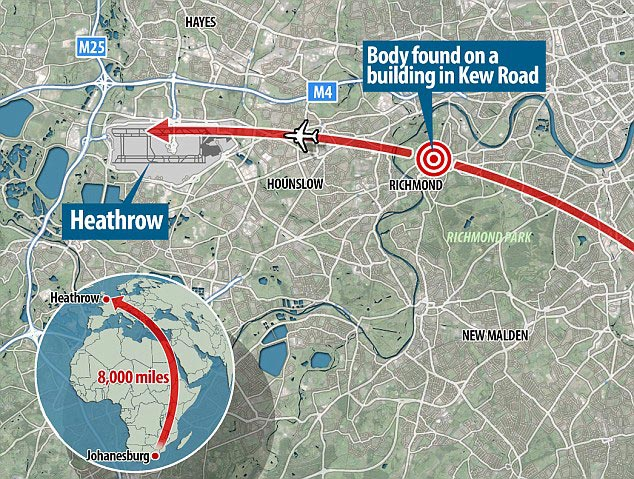Stowaway plunges 1000ft to death whilst another survives 11 hour British Airways flight