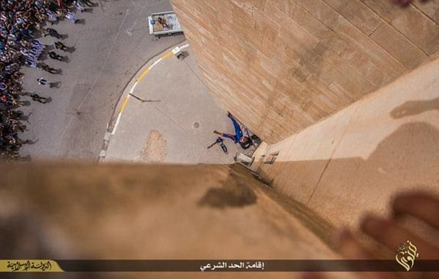ISIS dangle gay man by his ankles