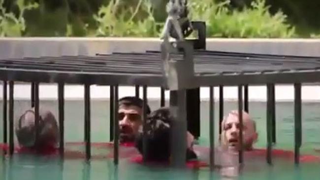 ISIS drowning prisoner video
