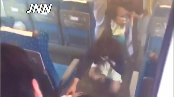 Japanese bullet train passenger light himself on fire.