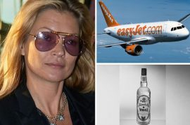Drunk Kate Moss thrown off EasyJet flight after swigging vodka from cabin luggage