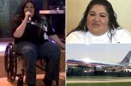 Disabled woman sues American Airlines after forced to crawl on plane