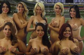 Venezuelan soccer presenters strip naked: Promise to post more if team wins
