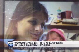 Amber Pangborn, Californian woman runs out of gas, gives birth, stranded in woods three days