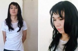 Ayan Zhademov, love sick 20 yr old boyfriend poses as 17 yr old girlfriend so he can take her exams