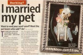 Dominique Lesbirel, Dutch woman to marry her dog after cat husband dies