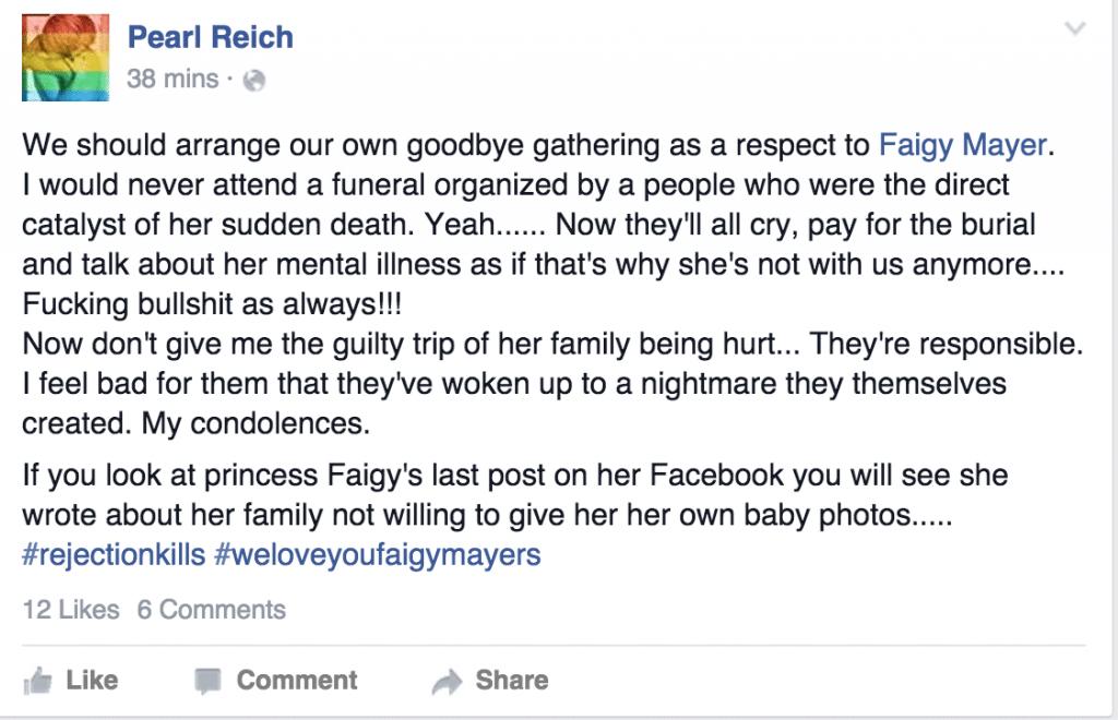 Faigy Mayer suicide