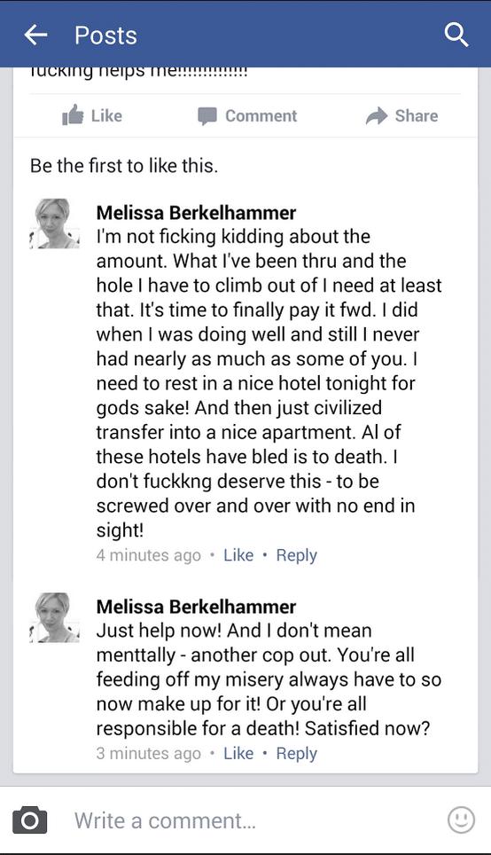 Melissa Berkelhammer suicide