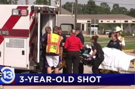 How did a 3 year old Texas boy shoot himself in the face with their grandfather's gun?