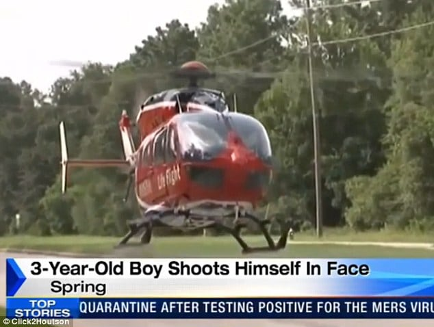 3 year old Texas boy shoot himself grandfather's gun