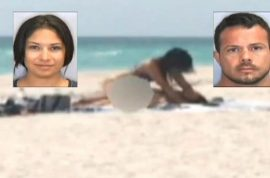 Fair sentence? Jose Caballero sentenced to two and half years for having sex on public beach.