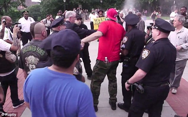 Disarm the Police protesters