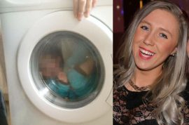 Scumbag mom shares photo of Down syndrome child in washing machine: Isn't it funny?
