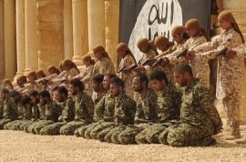 Video: ISIS children execute 25 Syrian regime soldiers at Palmyra