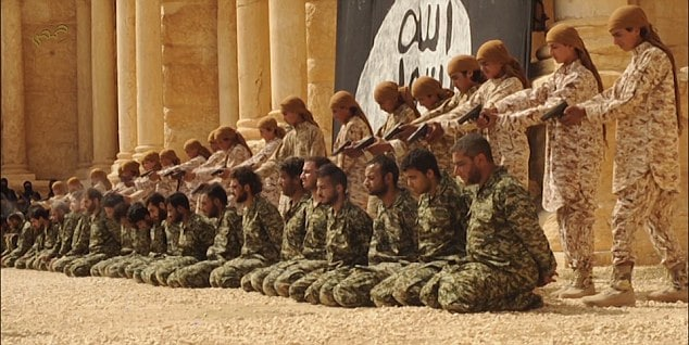 ISIS children execute 25 Syrian regime soldiers
