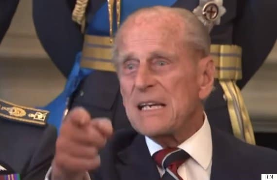 Prince Philip tells off photographer
