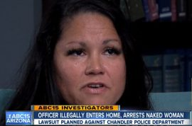 Esmeralda Rossi: 'Arizona cop illegally arrested me while I was in the shower'