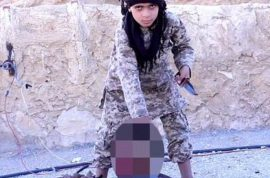 Cubs of Caliphate Video: Ten year old ISIS child beheads Syrian army officer