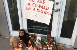 Walter Palmer protesters lock off dentist office: 'You are a coward and killer'
