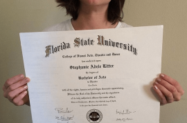 Stephanie Ritter, unemployed college graduate offers to sell diploma on Ebay for $50K