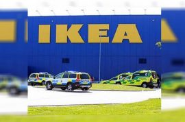 What motivated the Stockholm Ikea store stabbing?