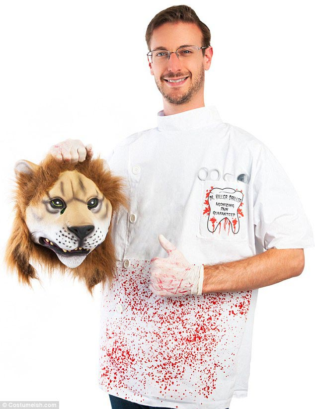 Cecil the lion Killer Halloween costume
