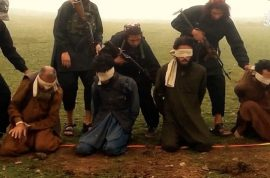 Video: ISIS executes ten prisoners by forcing them to kneel over bombs