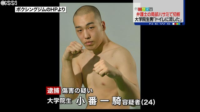 Japanese boxer cuts lawyer's penis off