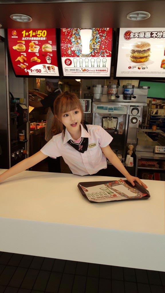Taiwanese Mcdonald's goddess