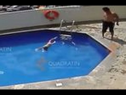 Mexican stepfather throws 3 year old daughter in pool to drown