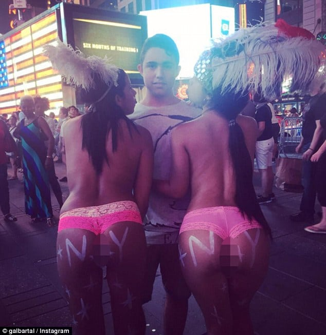 Times Square topless ladies photos