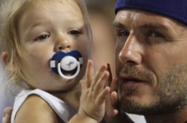 David Beckham defends Harper's dummy: 'You have no right!'