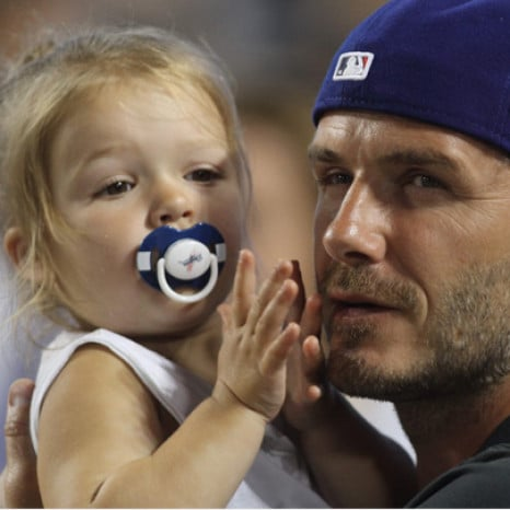 David Beckham defends Harper's dummy