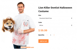 Tasteless? Cecil the lion Killer Halloween costume with severed head goes on sale
