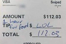 Jess Jones 'LOL' tip: NJ waitress stiffed on $112 bill