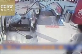 Video: Shanghai shopping mall cleaner leg ripped off by faulty escalator