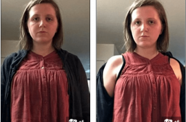 Too much skin? Tessa Wisloh, student warned shirtless shirt under zip jacket is off base
