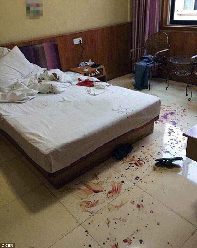 Mutilated Chinese man hotel lover castrated