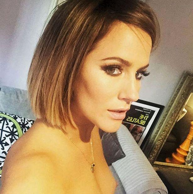 Caroline Flack topless nipple instagram
